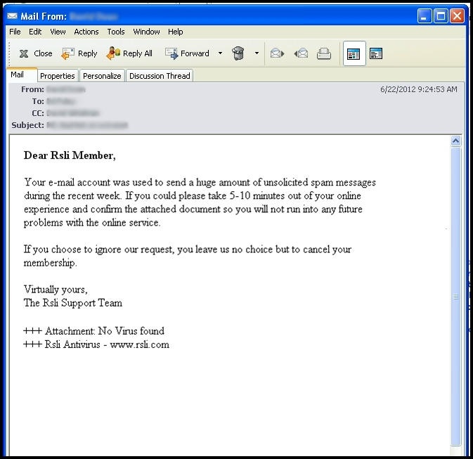 Examples of phishing emails.